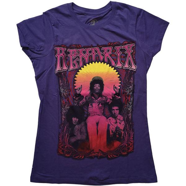 Jimi Hendrix Purple Ladies T-Shirt: Karl Ferris Wheel (X-Large)