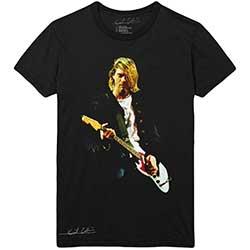 Kurt Cobain Mens T-Shirt: Guitar Photo Colour (XX-Large)