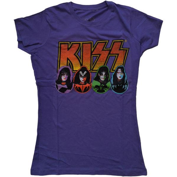 KISS Ladies PurpleT-Shirt: Logo