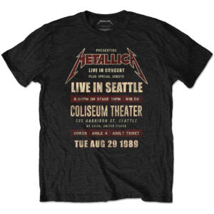 Metallica Mens Eco-T-Shirt: Seattle '89 (XX-Large)