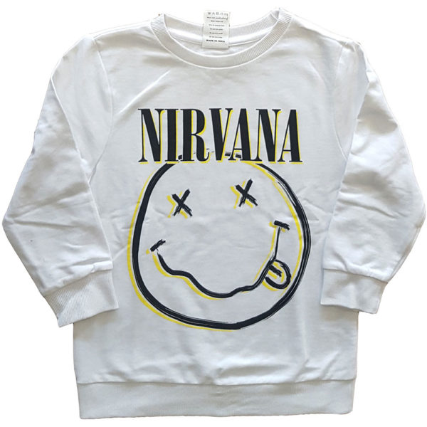 Nirvana Kids Sweatshirt: Inverse Smiley (11-12 Years)