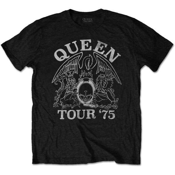 Queen Mens Eco-T-Shirt: Tour '75 (XX-Large)