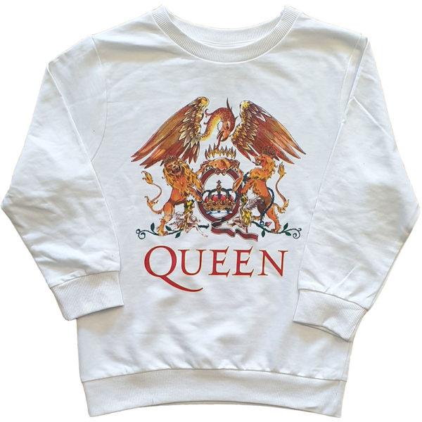 Queen Kids Sweatshirt: Classic Crest (11-12 Years)