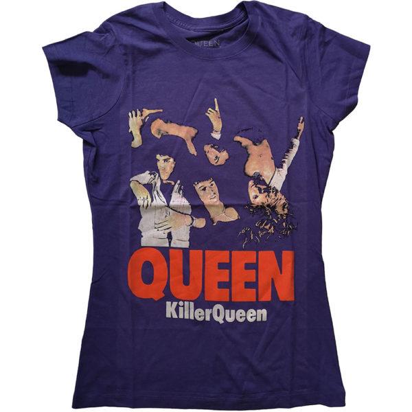 Queen Ladies Purple T-Shirt: Killer Queen (X-Large)