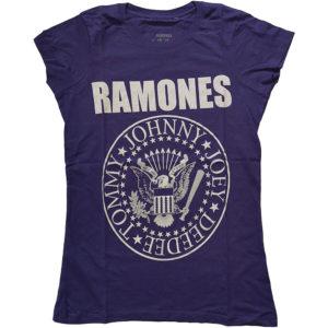 Ramones Ladies Purple T-Shirt: Presidential Seal (X-Large)