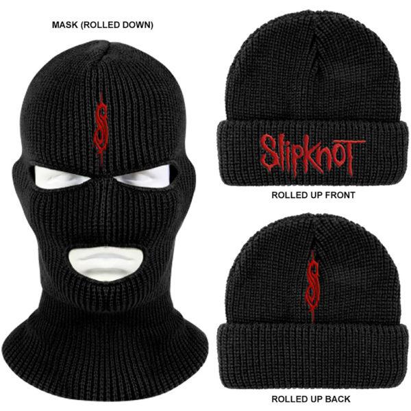 Slipknot Unisex Mask Beanie Hat: Logo