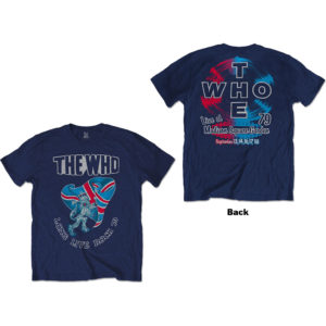 The Who Mens T-Shirt: Long Live Rock '79 (Back Print) (XX-Large)