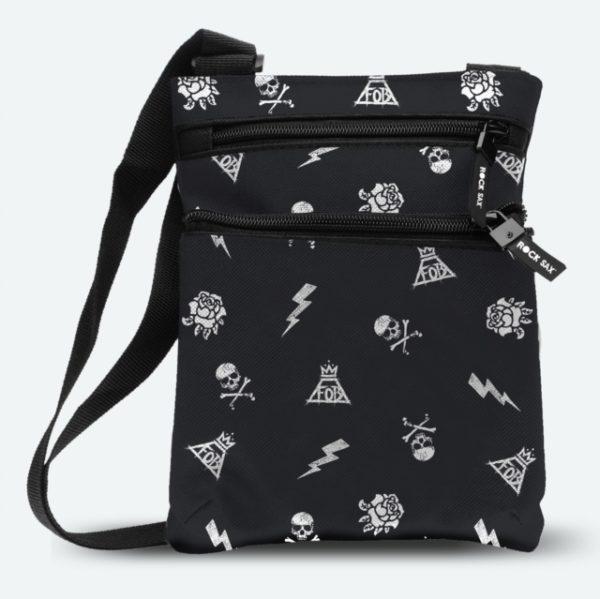 RockSax Fall Out Boy Pattern Body Bag