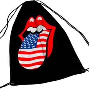 RockSax Rolling Stones USA Tongue Draw String Bag