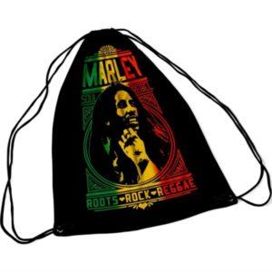 RockSax Bob Marley Roots Rock Draw String Bag