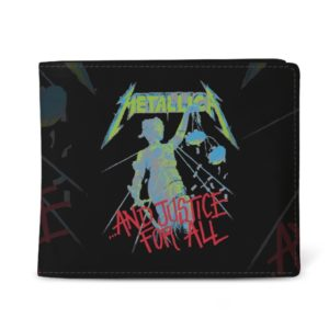RockSax Metallica And Justice For All Black Wallet