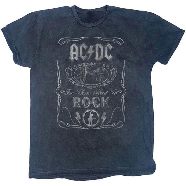 AC/DC Mens T-Shirt: Cannon Swig (Dip-Dye) (XX-Large)
