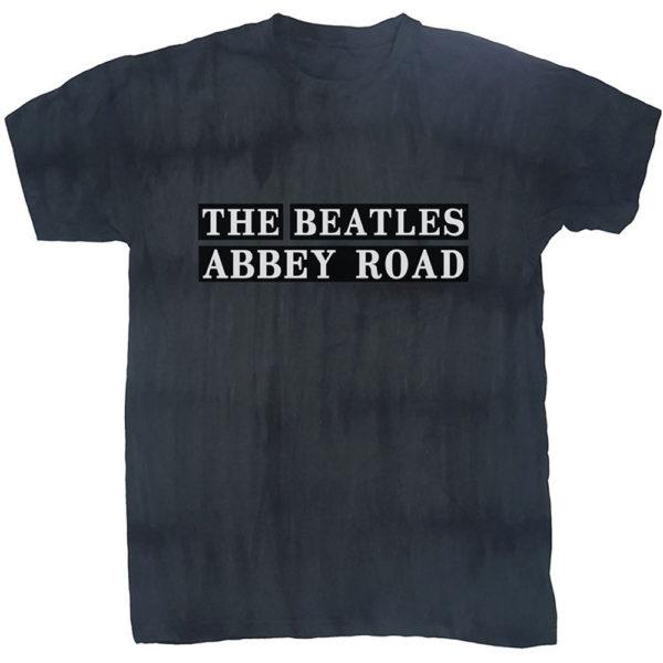 The Beatles Mens T-Shirt: Abbey Road Sign (Dip-Dye) (XX-Large)