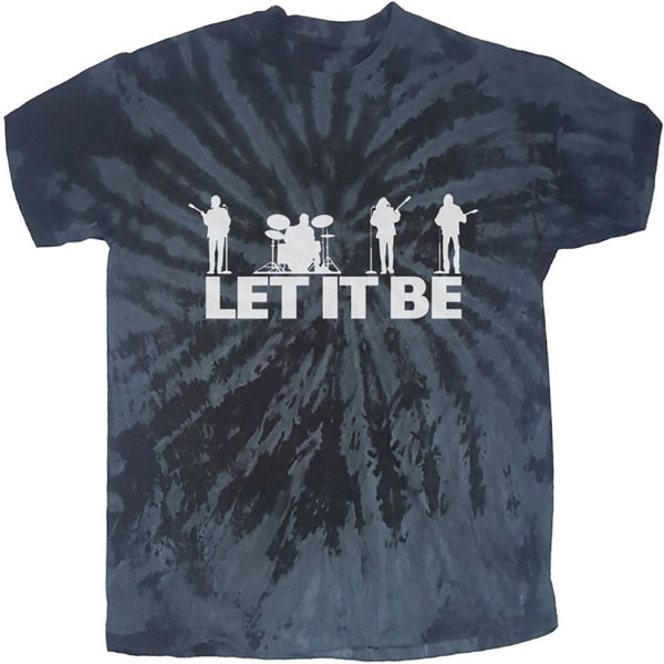The Beatles Mens T-Shirt: Let It Be Silhouette (Dip-Dye) (XX-Large)
