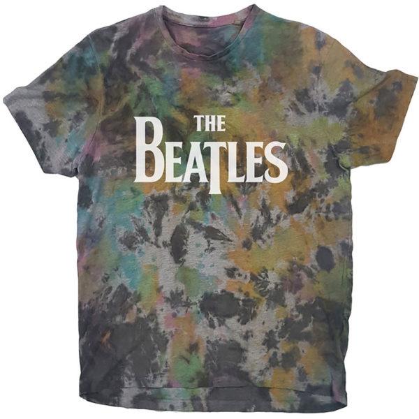 The Beatles Mens T-Shirt: Drop T Logo (Dip-Dye) (XX-Large)