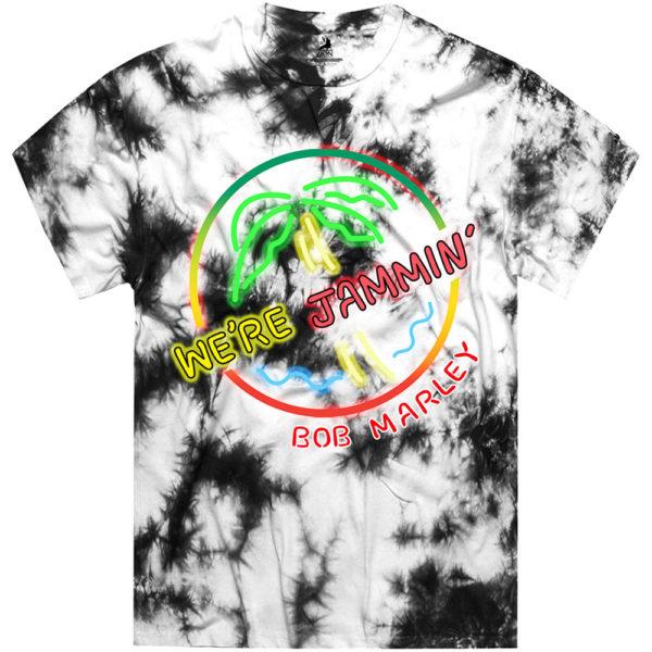 Bob Marley Mens T-Shirt: Neon Sign (Dip-Dye) (XX-Large)