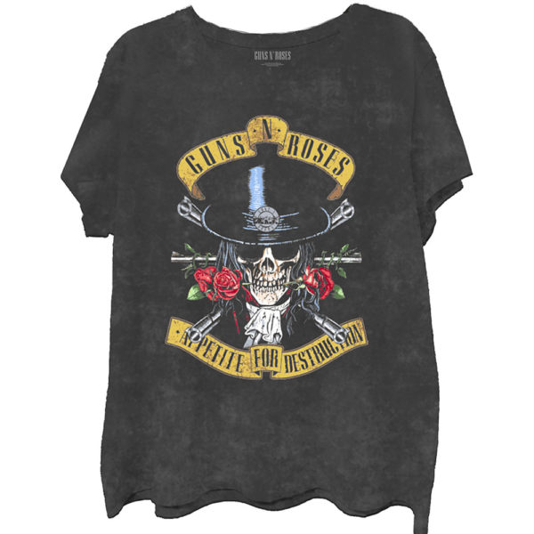 Guns N' Roses Mens T-Shirt: Appetite Washed (Did-Dye/Mineral Wash) (XX-Large)