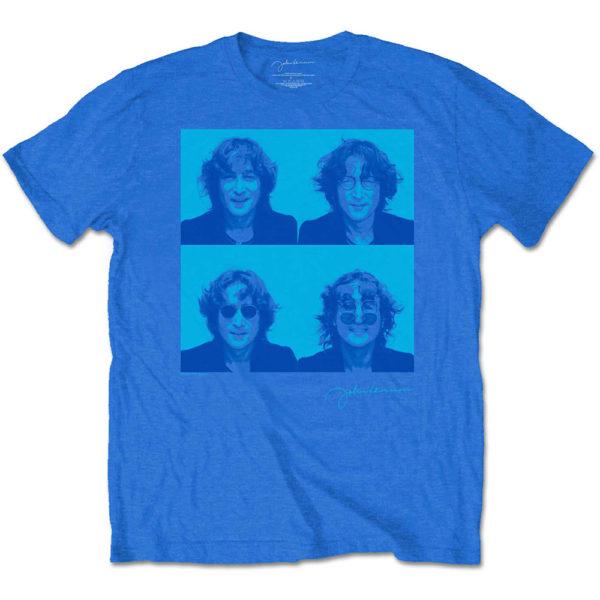 John Lennon Mens T-Shirt: Glasses 4 Up (XX-Large)
