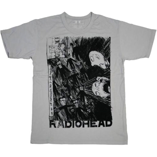 Radiohead Mens T-Shirt: Scribble (XX-Large)