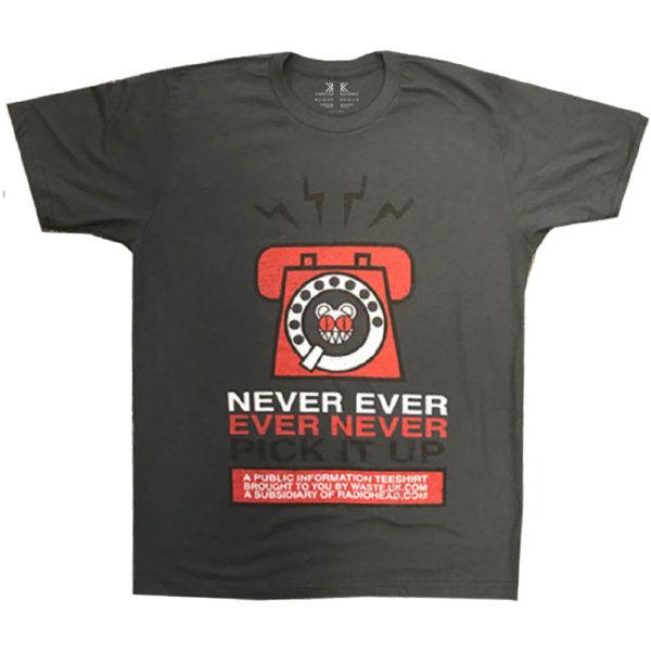 Radiohead Mens T-Shirt: Never Pick It Up (XX-Large)