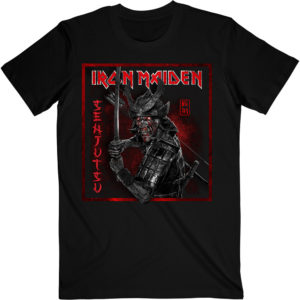 Iron Maiden Mens T-Shirt: Senjutsu Cover Distressed Red (XX-Large)