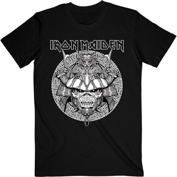 Iron Maiden Mens T-Shirt: Samurai Graphic White (XX-Large)