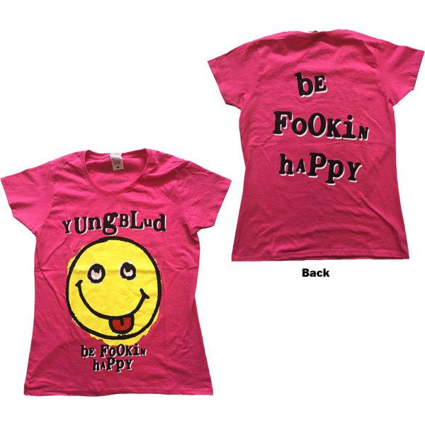 Yungblud Ladies T-Shirt: Raver Smile (Back Print) (XX-Large)