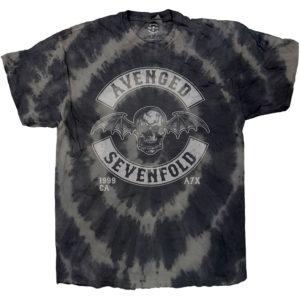 Avenged Sevenfold Mens T-Shirt: Deathbat Crest (Dip-Dye) (XX-Large)